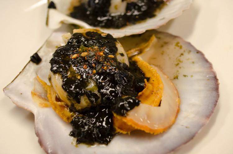 蒸し帆立海苔あんかけ ※試食用にスーパーで買った食材で作ったものです